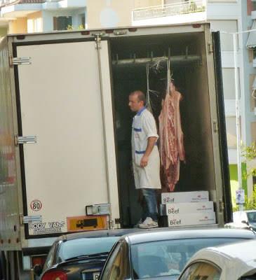 Jak wygląda sklep mięsny w Grecji? Uwaga!!! Post nie dla wrażliwców…