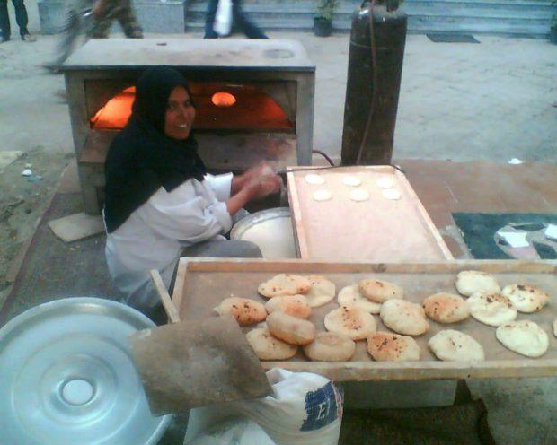 uliczny wypiek chleba