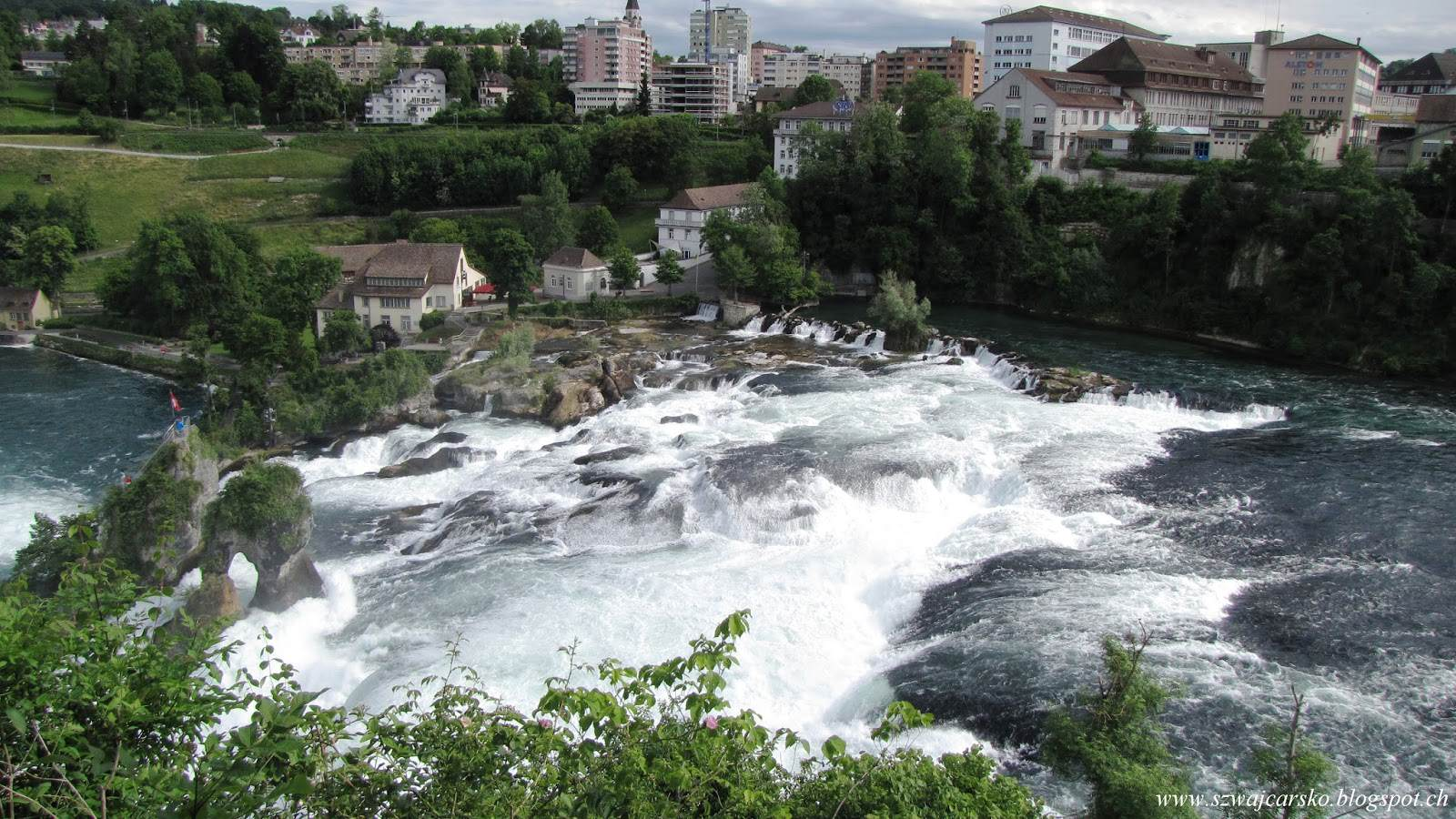 Rheinfall, największy wodospad w Europie.