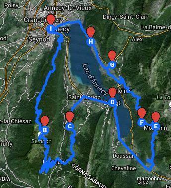 trasa dookoła jeziora