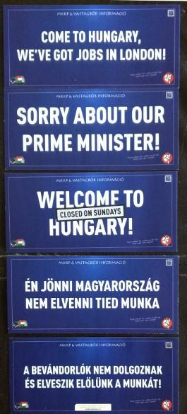 Plakaty anty-antyimigranckie