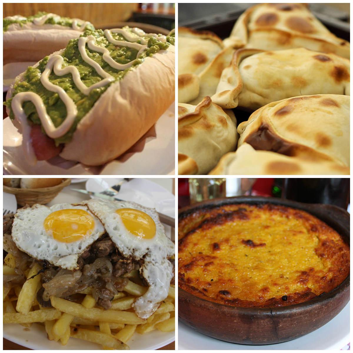 Completo italiano | Empanadas | Chorrillana | Pastel de choclo