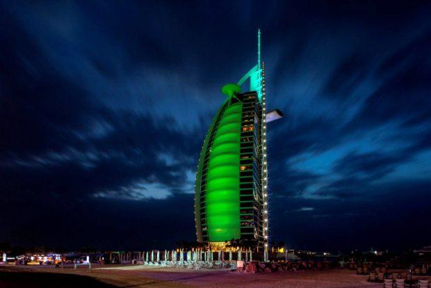 pic 1 - BURJ AL ARAB DUBAI JOINS TOURISM IRELANDS GLOBAL GREENING