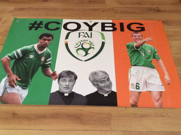 Irlandzkie flagi na Euro 2016