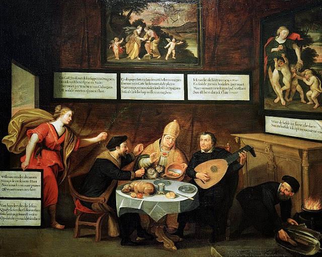 Luter i puszczanie bąków przy stole