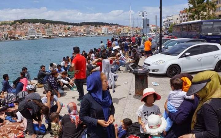 Uchodźcy na wyspach greckich