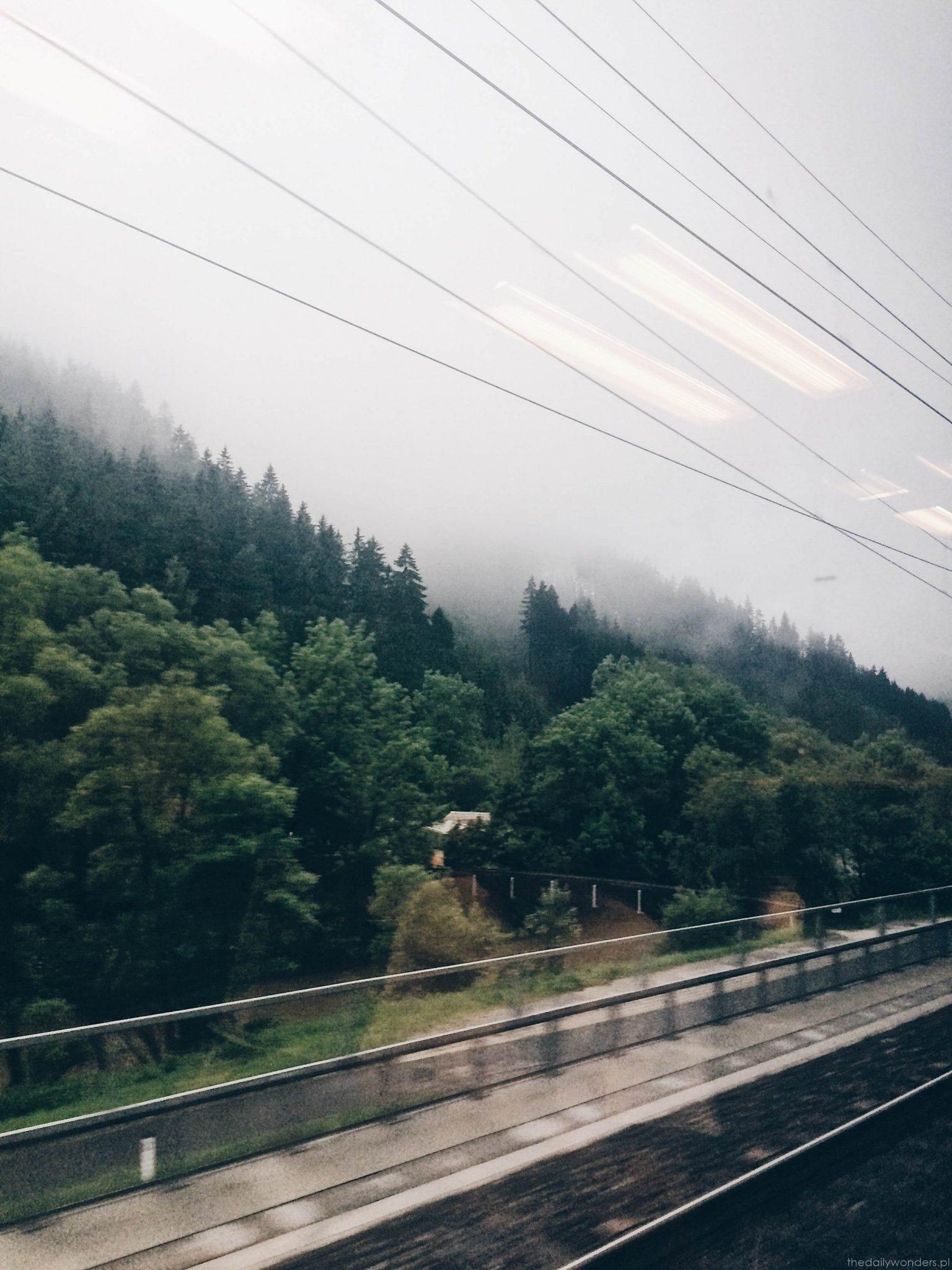 Graz widoki z pociągu