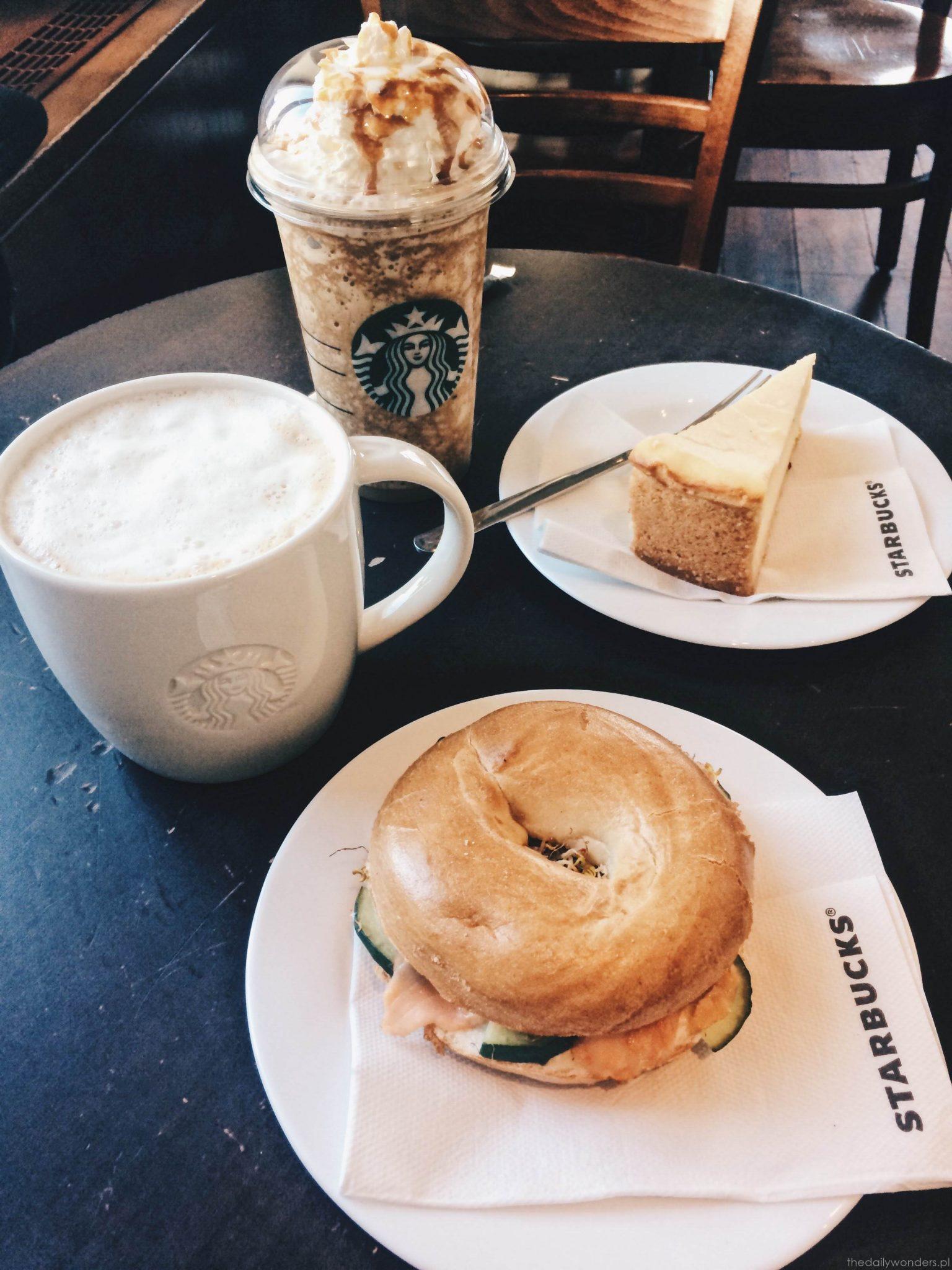Wiedeń bajgel kawa ze Starbucks