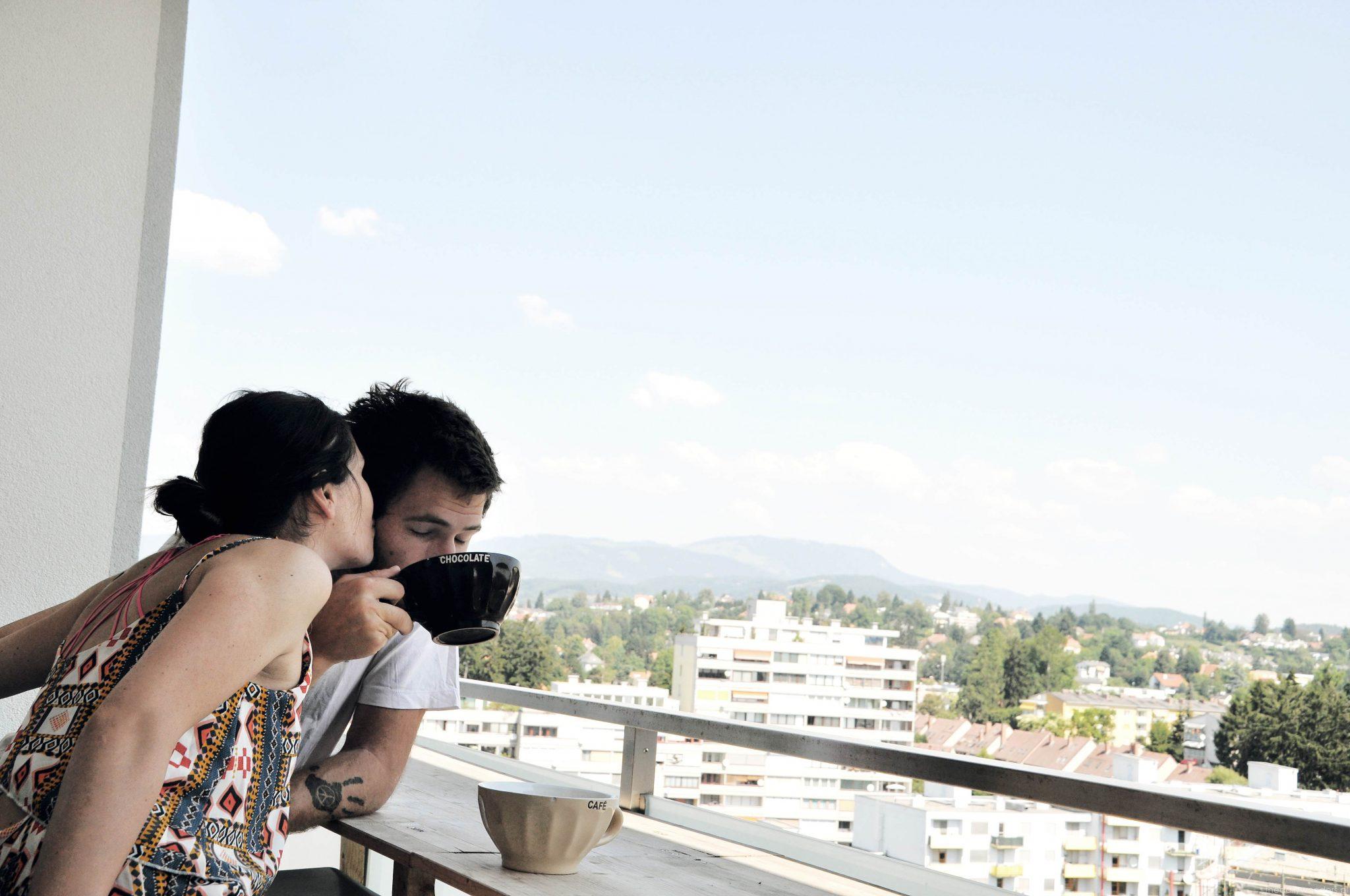 Graz widok z balkonu