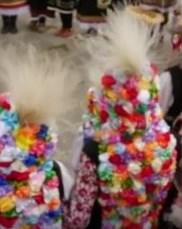 Strój zdobiący głowy dziewczyn w Łazarovden.