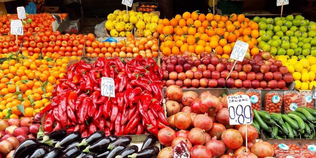 targ owocowo-warzywny ateny