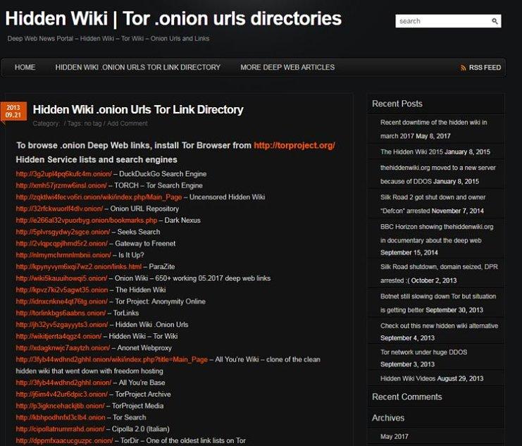 Tor Hidden Wiki