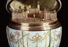House Of Fabergé Gatchina Palace Egg Walters 44500 Open View B